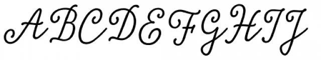 Tierra Script Salt Font UPPERCASE