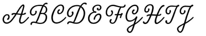 Tierra Script Font UPPERCASE