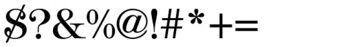 Tiffany Medium Font OTHER CHARS