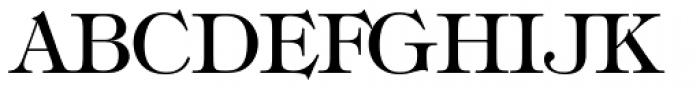 Tiffany Medium Font UPPERCASE