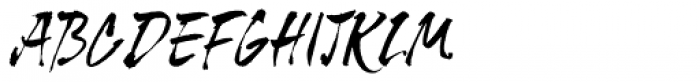 Tiger Rag Font UPPERCASE