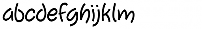 Tiggly Wiggly Font LOWERCASE