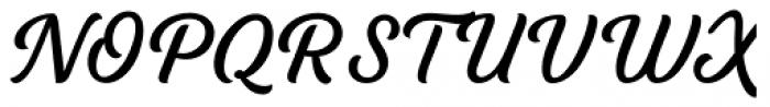 Tilda Script Regular Non-connect Font UPPERCASE