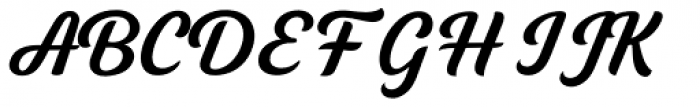Tilda Script Semibold Non-connect Font UPPERCASE