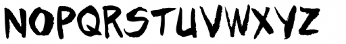 Tim Sale Brush Font UPPERCASE