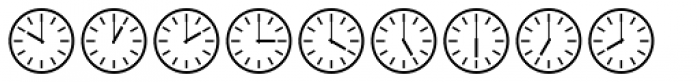 Time Clocks Font OTHER CHARS
