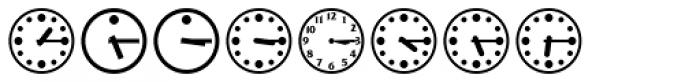 Time Clocks Font UPPERCASE