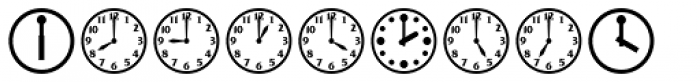 Time Clocks Font LOWERCASE