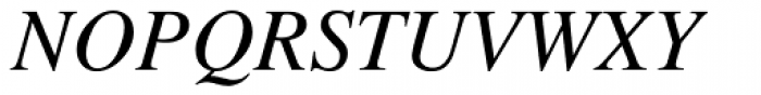 Times Italic Old Style Figures Font UPPERCASE