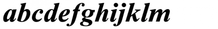 Times NR Seven MT Bold Italic Font LOWERCASE