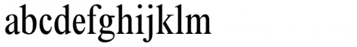 Times New Roman Condensed Font LOWERCASE