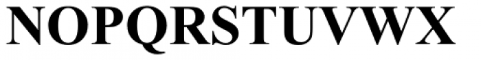 Times New Roman OS Bold Font UPPERCASE