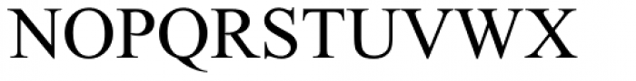 Times New Roman OS Regular Font UPPERCASE