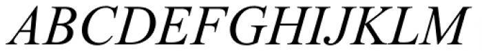 Times New Roman PS Pro Italic Font UPPERCASE