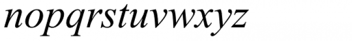 Times New Roman PS Std Italic Font LOWERCASE