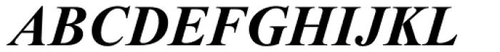 Times New Roman Pro PS Bold Italic Font UPPERCASE