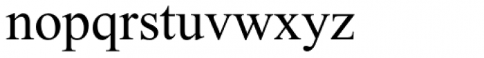 Times New Roman Pro PS Greek Regular Font LOWERCASE