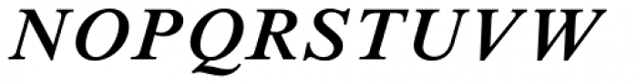 Times New Roman Std SemiBold Italic Font UPPERCASE