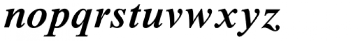 Times New Roman Std SemiBold Italic Font LOWERCASE