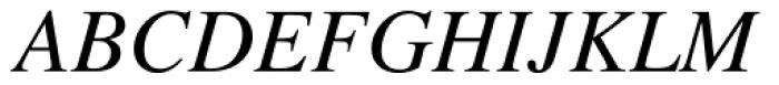 Times Pro Italic Font UPPERCASE