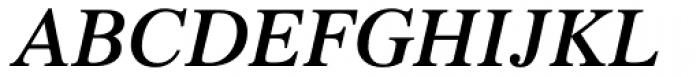 Times Pro SemiBold Italic Font UPPERCASE