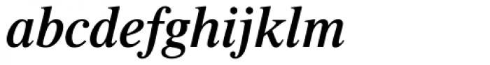 Times Pro SemiBold Italic Font LOWERCASE
