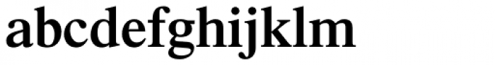 Times SemiBold Font LOWERCASE
