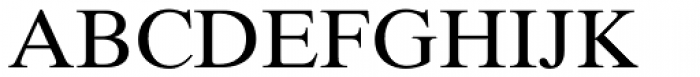 Times Ten Cyrillic Roman Font UPPERCASE