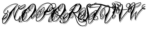 Tinka Babe Bold Shadow Italic Font UPPERCASE