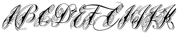 Tinka Babe Shadow Italic Font UPPERCASE