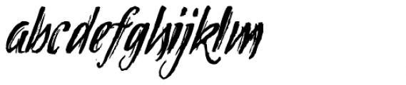 Tipbrush Script 2 Slanted Font LOWERCASE