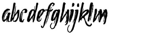 Tipbrush Script 2 Font LOWERCASE