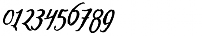 Tipbrush Script Slanted Font OTHER CHARS