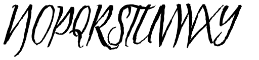 Tipbrush Script Slanted Font UPPERCASE