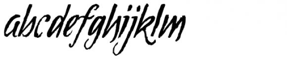 Tipbrush Script Slanted Font LOWERCASE