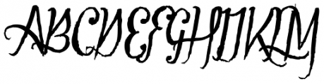 Tipbrush Script Font UPPERCASE