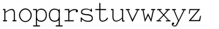 TiredOfCourier Thin Font LOWERCASE