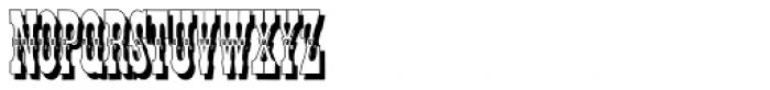 Tissot Shadow Font UPPERCASE