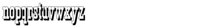 Tissot Shadow Font LOWERCASE