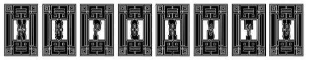 Tissot Square Lined Font UPPERCASE
