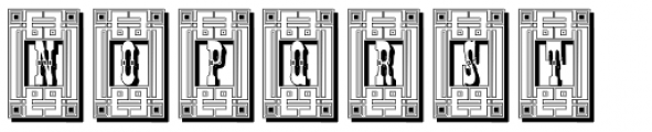 Tissot Square Shadow Font LOWERCASE