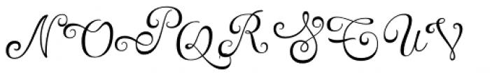 Tita Script Alt Font UPPERCASE