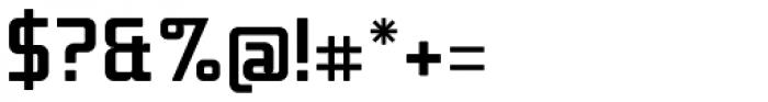 Titan Bold OT Font OTHER CHARS