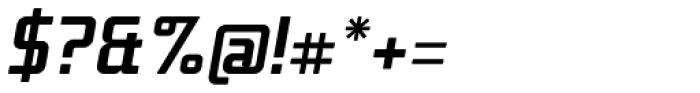 Titan Text Bold Italic OT Font OTHER CHARS