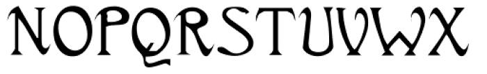 Titania Font UPPERCASE
