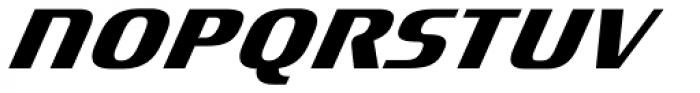 Titanium Motors Oblique Font UPPERCASE