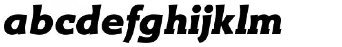 Titla Brus Black Italic Font LOWERCASE