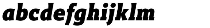 Titla Brus Condensed Black Italic Font LOWERCASE