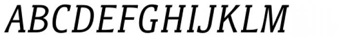 Titla Brus Condensed Book Italic Font UPPERCASE