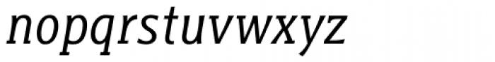 Titla Brus Condensed Book Italic Font LOWERCASE